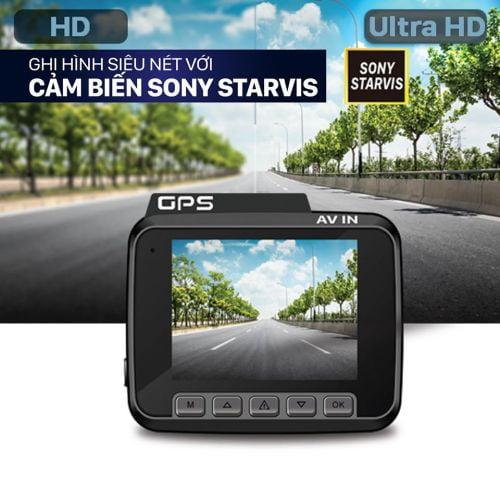 Camera hành trình Vietmap C61 Pro cảnh báo giao thông độ nét 4K