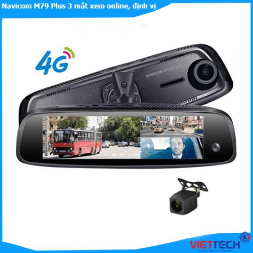 Camera hành trình Navicom M79 Plus 3 mắt xem online, định vị Xe