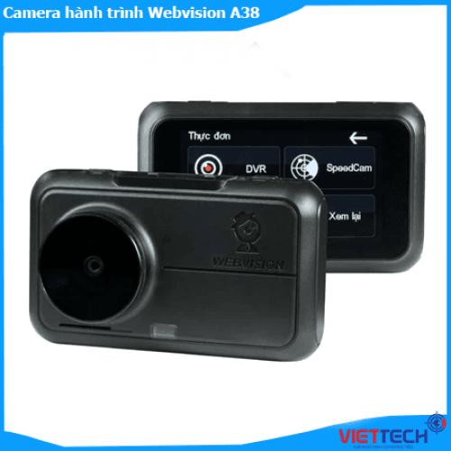 Camera Hành Trình webvision A38 Ghi Hình Trước Sau, Độ Nét 4K