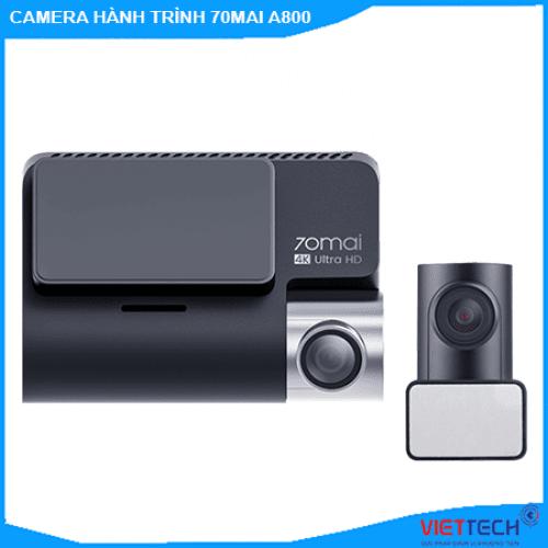 Camera hành trinh Xiaomi 70mai A800, camera 2 mắt trước sau