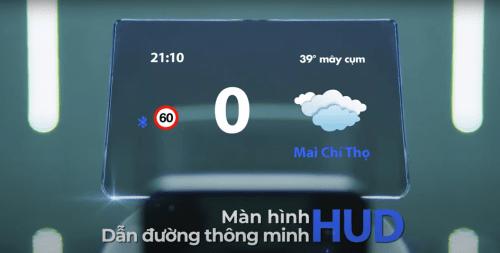 Bộ HUD H1X Vietmap Hiển Thị Thông Tin Trợ Lý Lái Xe An Toàn