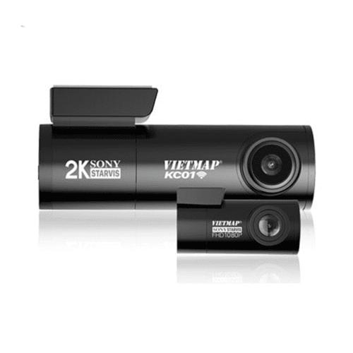 Camera hành trình Vietmap KC01 ghi hình cùng lúc trước và sau xe