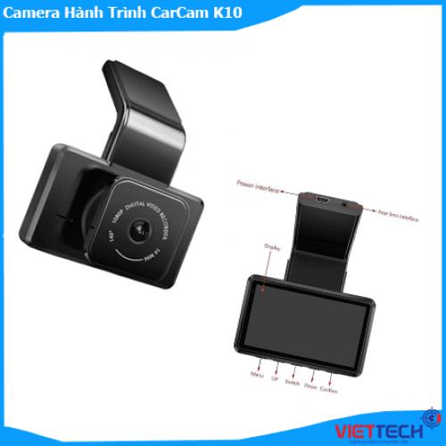 Camera Hành Trình CarCam K10 GPS 2 Camera Siêu Nét Trước Sau.