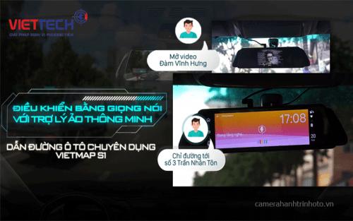 Camera Hành Trình Gương Vietmap IDVR P2 Điều Khiển Bằng Giọng Nói Cao Cấp