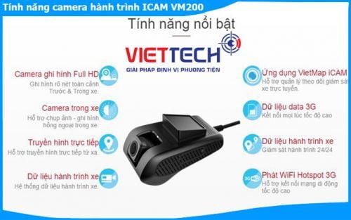 Camera hành trình Vietmap iCAM VM200 Wifi, 3G xem từ xa