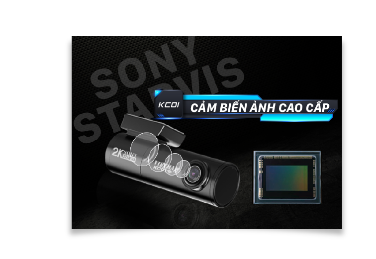Cảm biến Sony bền bỉ siêu nhậy khi ghi hình